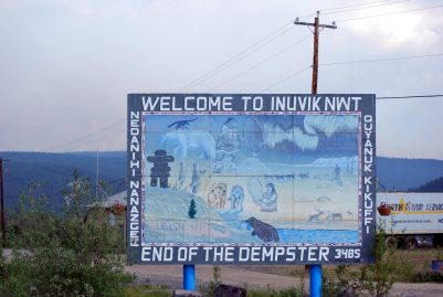 Finally made to Inuvik the furthest north you can go by land in Summer