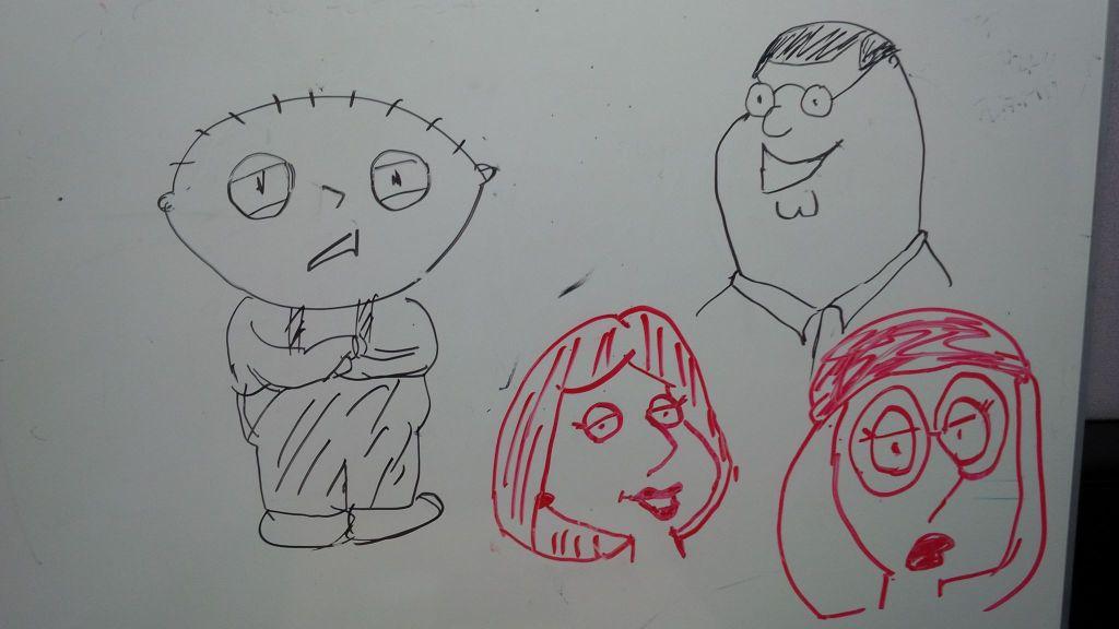 Doodling family guy